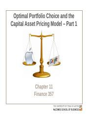 Chapter 11 Optimal Portfolio Choice and the Capital Asset Pricing Model - Part 1 v2
