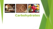 NTR 109 - Lecture #2 Carbohydrates