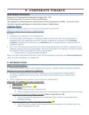 9. Corporate Finance Jules Summary.doc
