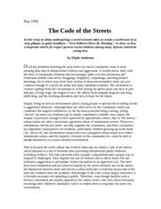 the code of the streets essay scholarships