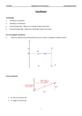 Coordinates lecture notes