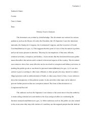 #105358905 primary source analysis