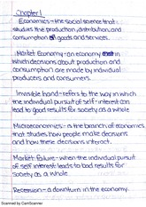 Chapter 1 economics notes