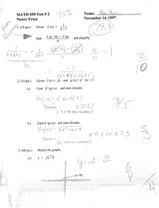 Quadratic Equations Test