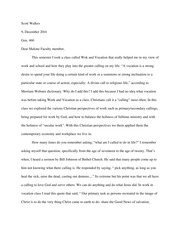 Essay - Reflection on the class