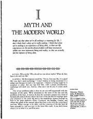 Myth and The Modern World