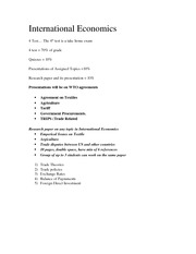 International Economics Outline Jan 17