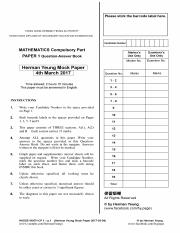 20170304_HermanYeung_Maths_Mock_paper_I_english