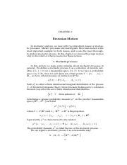 Chapter 2 Brownian Motion