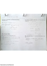 MAC2311 Lecture 15 Product and Quotient Rules notes
