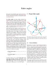 Euler angles  Wikipedia
