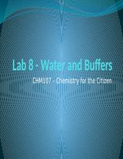 Lab 10 - Water and Buffers