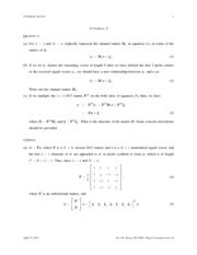 Tutorial 9 Solutions 2013