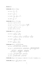 Calculus Answers