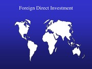Chapter 7 - Foreign Direct Investment