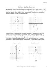 MATH0303-graphing quadratic functions