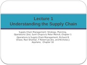 Supply Chain Management Lecture 1(1)