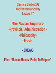 Classical Studies 202 Lecture 7.ppt