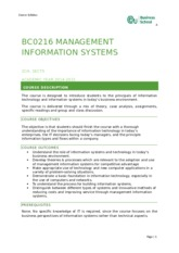BCO216 Management of Information Systems