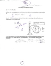 CHEM LAB 111 Quiz 1