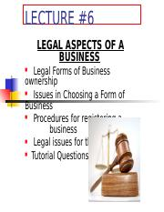 UNIT 5 Legal Aspects of Business Lesson 7