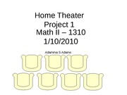 Math II MA 1310  Project 1 Home Theater