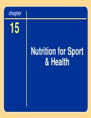 Ch 15 Nutrition