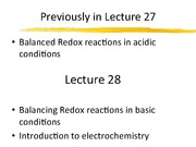 Lecture 28-REDOX