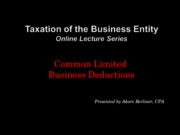 Class 2b Business Deductions Travel, Transport, Entertainment and Home Office