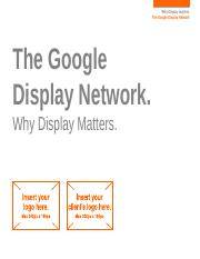 Display - GDN - Why Display Matters