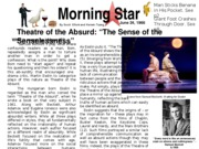 Model_Group_Newspaper_Assignment - Theater of the Absurd