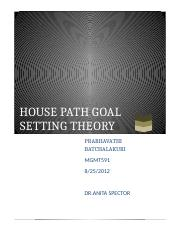 HOUSE PATH GOAL SETTING THEORY 1.docx