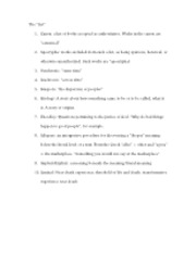 """The List"" - Study Guide for Final"