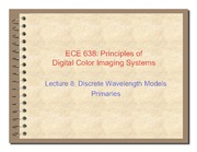 08. Discrete wavelength models primaries - 2011