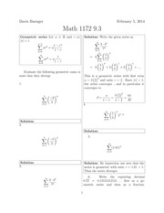 Math 1172 9.3 Solutions Sp 2014