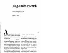 Unger_Using outside research_jpm.9.3.43.pdf