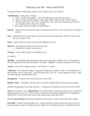 Nutrition_Unit_Test_-_Study_Guide_2013