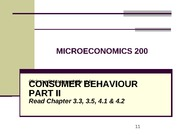 Week 3 - Consumer Behaviour Part II