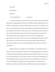 relection paper final draft english 101