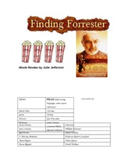 Honors English Finding Forrester Movie Review