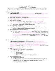 Ch. 16 Psychological & Biological Treatments.docx