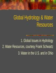 21 Global Hydrology Water Resources