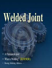 Lecture 6 - Welded Joints