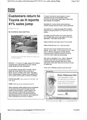 Customers return to Toyota - Paper 2