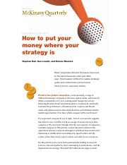 How to put your money where your strategy is.pdf