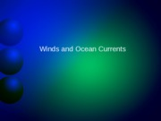 Lecture 8 Winds and Coriolis