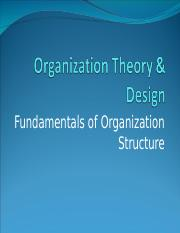 Lecture 5 Fundamentals of Organization Structure.ppt