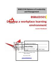 BSBLED501 Learner Workbook V1.0.docx