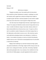 Honors transfer program Essay Version 2