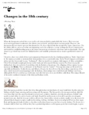 "Changes in the 18th century â€"" North American Indians"